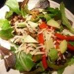 Taco Salad + Black Bean & Avocado Nachos