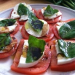 Tomato and Mozzarella Salad and Winner of Adora Giveaway