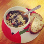 Immersion blender & White Bean, Rosemary and Kale Soup