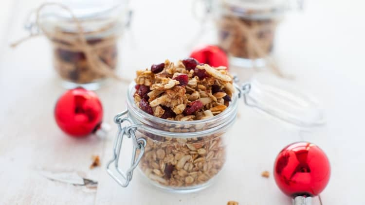 Holiday Cranberry Orange Granola