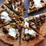 Brussels Sprout Pizza with Whole Wheat Flax Crust