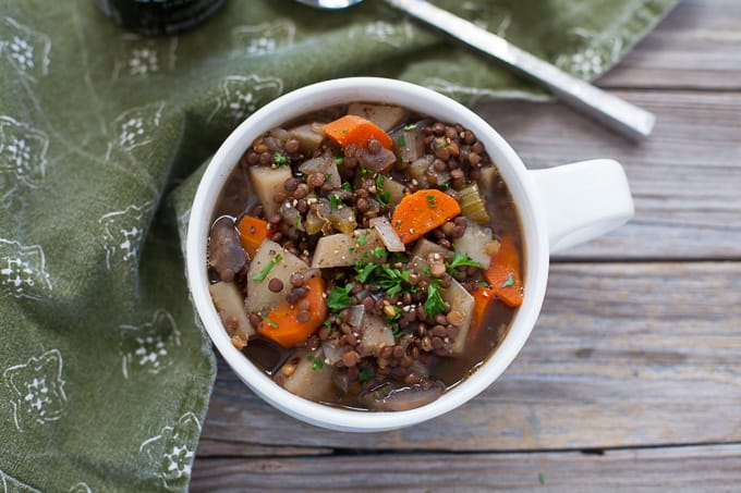 Irish Lentil Guinness Stew