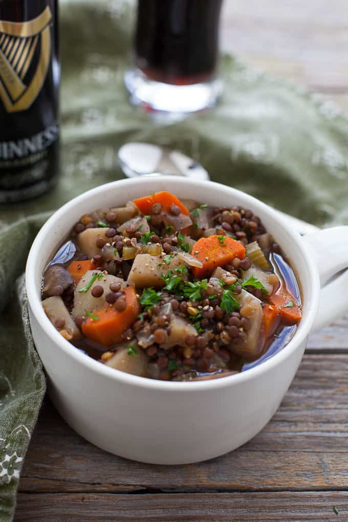 vegetarian Guinness Irish stew
