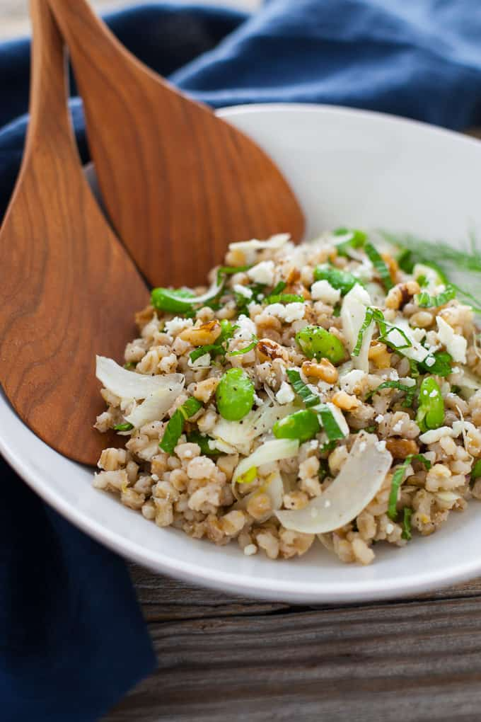 Spring Grain Salad with Fava