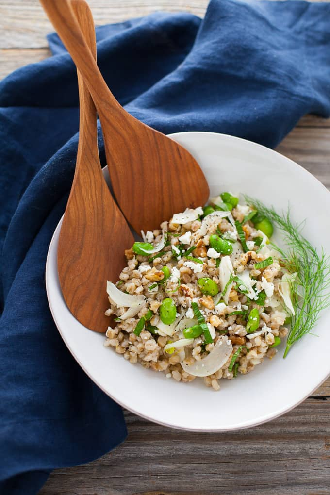 Spring Grain Salad with Fava and Fennel