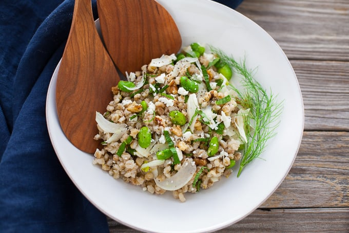 Toasted Barley Salad With Fava & Fennel