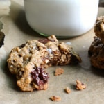 Dark Chocolate Almond Oatmeal Cookies with Sea Salt