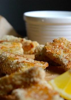 Garlic & Herb Parmesan Fish Sticks