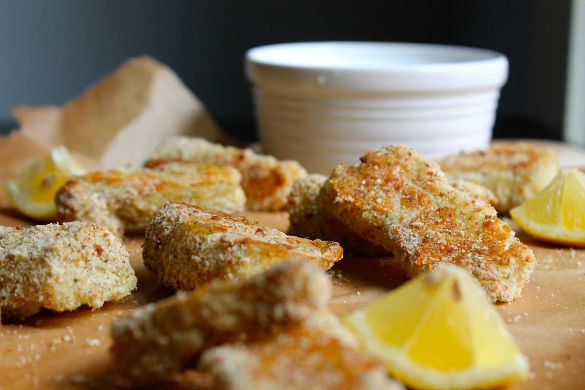 Kara lydon garlic herb parmesan fish sticks kara lydon for Fish stick sauce