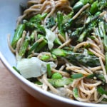 Peppery Pasta with Asparagus & Fava