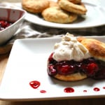 Balsamic Roasted Strawberry Shortcake