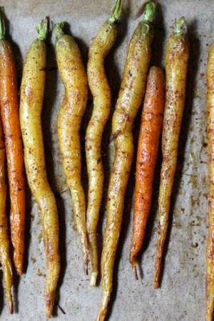 Curry Roasted Baby Carrots