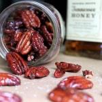 Honey Whiskey Roasted Pecans