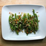 Caramelized Onion Green Beans with Toasted Almonds