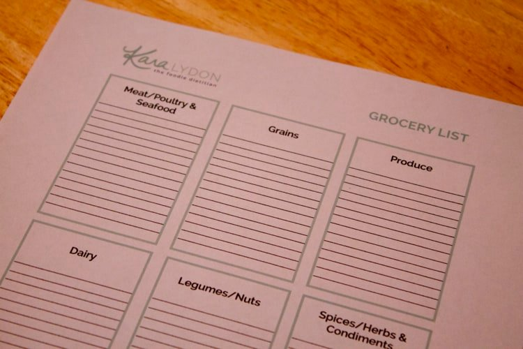 Kitchen Makeover & Personalized Grocery List