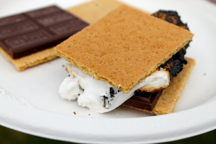 Blog Brulee campfire smores | The Foodie Dietitian @karalydon