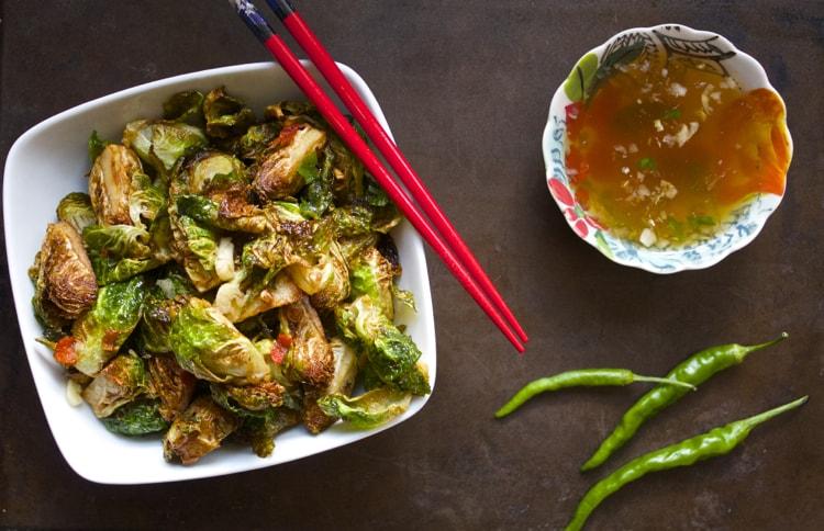 Thai Brussels Sprouts | The Foodie Dietitian @karalydon