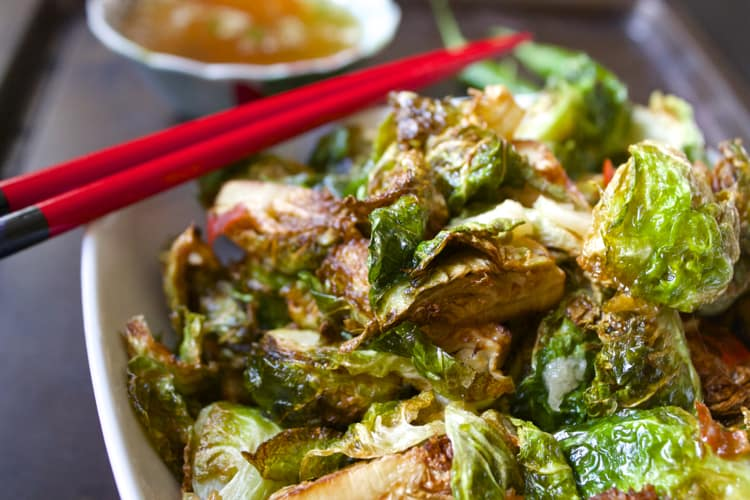 Brussels Sprouts with Thai Sauce | The Foodie Dietitian @karalydon