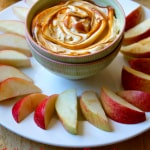 Salted Caramel Peanut Butter Apple Dip | The Foodie Dietitian @karalydon