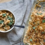 Sweet Potato & Kale Mac N' Cheese with Sage Breadcrumbs