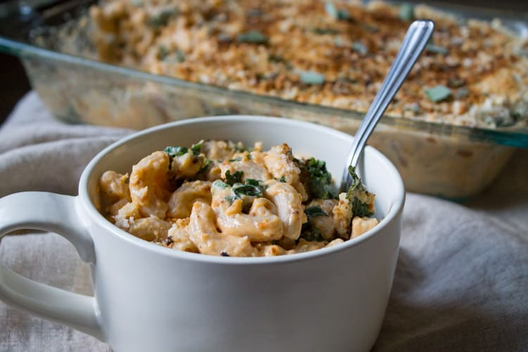 Sweet Potato & Kale Mac N' Cheese