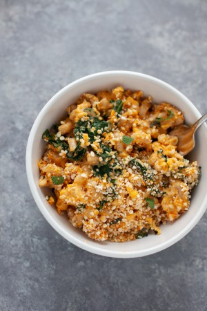 Sweet Potato Mac and Cheese with Kale (and sage breadcrumbs)