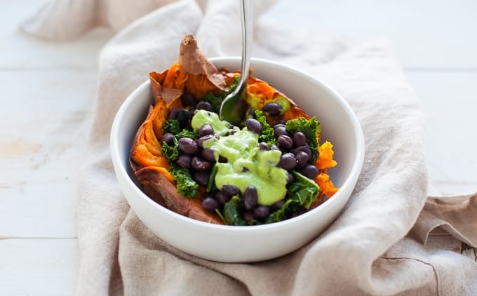 Vegan Loaded Sweet Potato