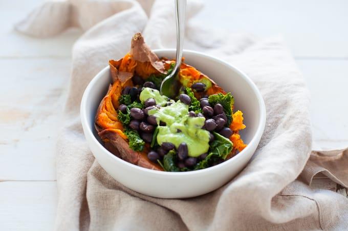 Vegan Loaded Sweet Potato - The Foodie Dietitian