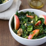 Harvest Kale Salad with Pumpkin Seed Oil Dressing