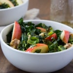 Kale Salad with Pumpkin Seed Oil Dressing| The Foodie Dietitian @karalydon