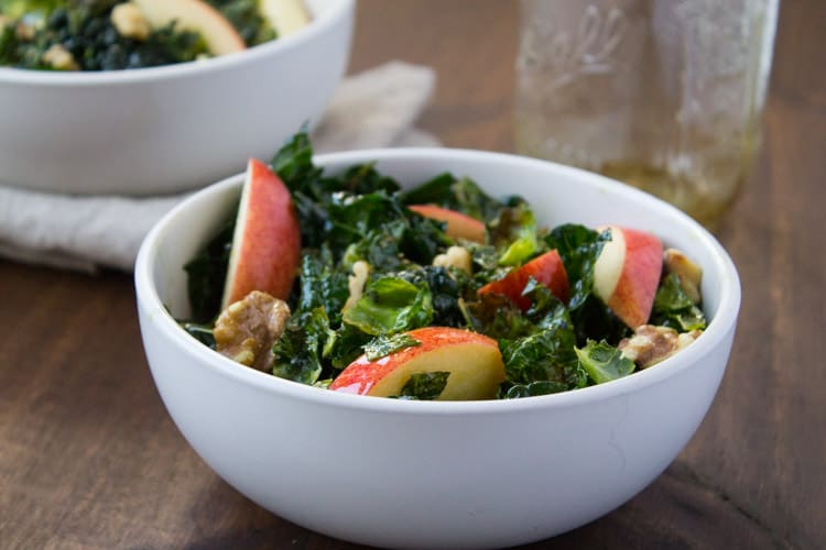 Harvest Kale Salad with Pumpkin Seed Oil Dressing