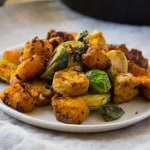 Vegan Tempeh Pumpkin Hash | The Foodie Dietitian @karalydon