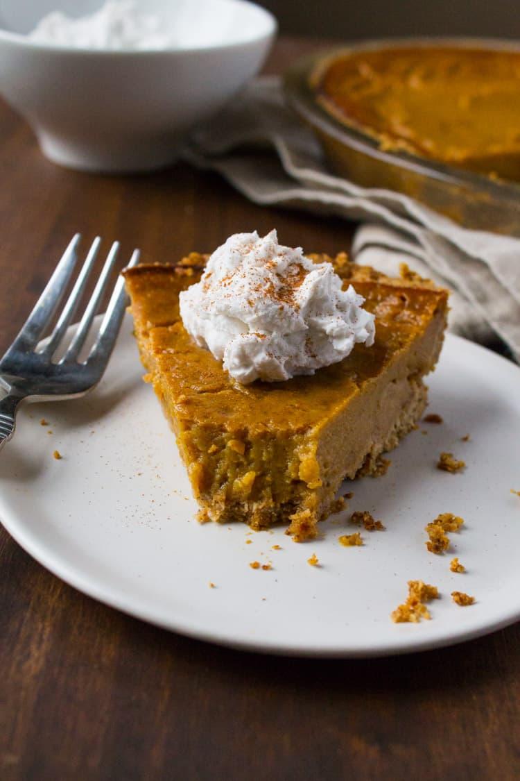 Vegan Gluten-Free Pumpkin Pie-7