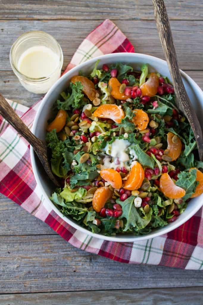 Holiday Winter Salad with Pomegranate and Satsuma-4