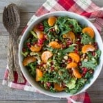 Holiday Winter Salad with Pomegranate and Satsuma