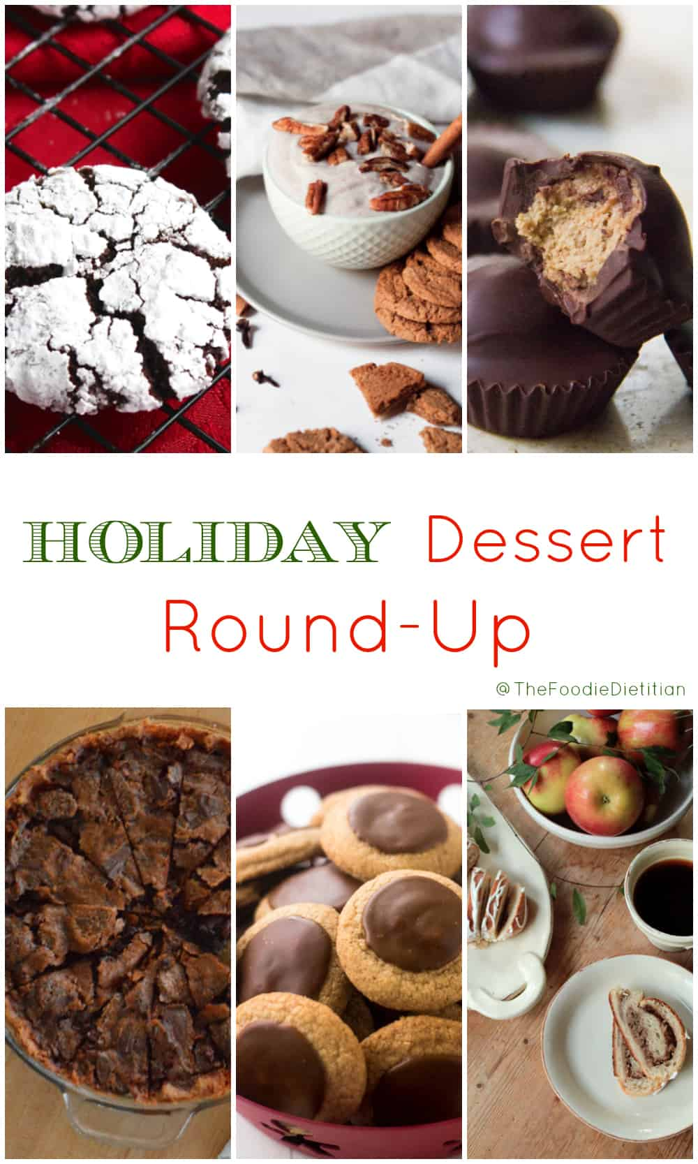 Tis the season for a holiday dessert recipe round-up! All of my favorite healthier dessert recipes for the holidays along with other friday favorites. | @TheFoodieDietitian