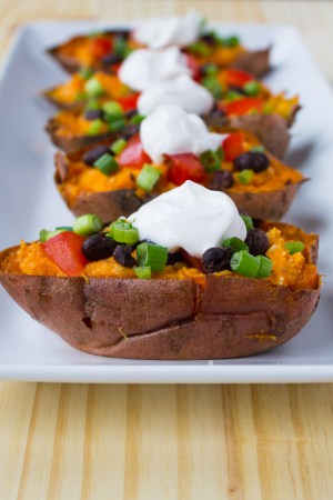 Vegan Loaded Sweet Potato Skins