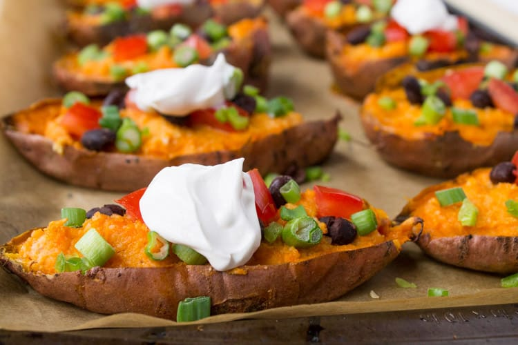 Vegan Loaded Sweet Potato Skins