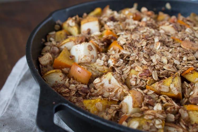 Persimmon and Pear Oatmeal Breakfast Bake {Recipe by Shawn Zajicek}