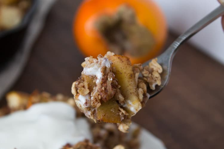 Persimmon and Pear Oatmeal Breakfast Bake-6