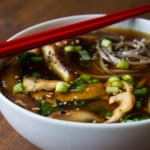 Vegan Kale and Mushroom Miso Soup