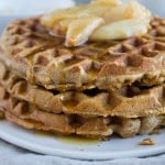 Waffles with Sautéed Pears | @TheFoodieDietitian