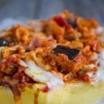 Eggplant Parmesan Spaghetti Squash | @TheFoodieDietitian