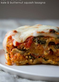 Slow Cooker Butternut Squash and Kale Lasagna