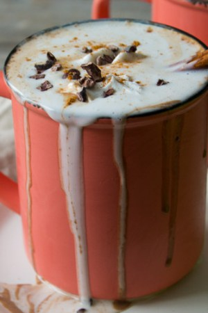 Vegan Boozy Mexican Spiced Hot Chocolate   @TheFoodieDietitian