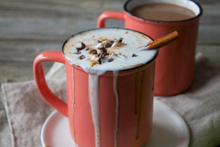 Vegan Boozy Spiced Hot Chocolate | @TheFoodieDietitian