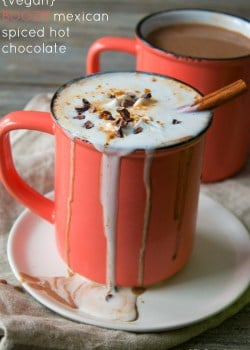 Vegan Boozy Mexican Spiced Hot Chocolate-