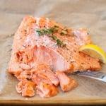 slow cooked fresh salmon