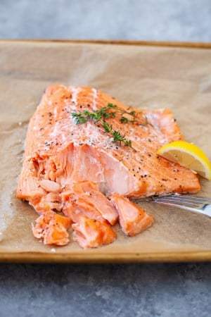 slow cooked fresh salmon