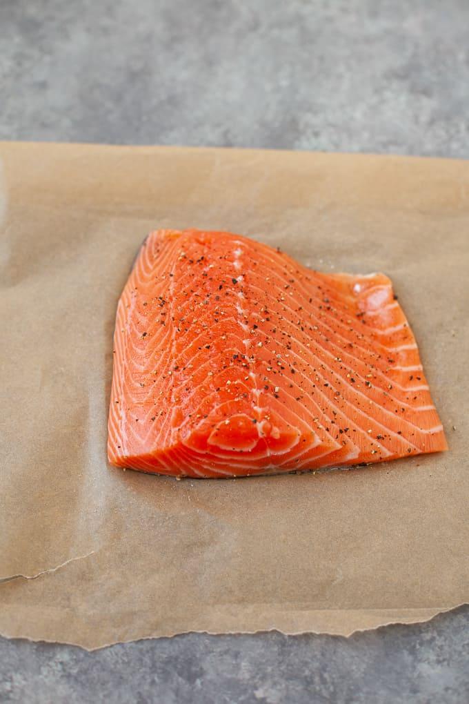 salmon on sheet pan